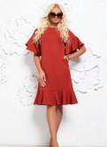 Платье прямого силуэта, платья из вискозы макси
