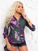Красивая рубашка из натуральной ткани, фасоны платьев трикотажные летние