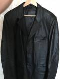 Куртка джинсовая мужская, пиджак мужской кожаный новый