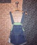 Магазин японской одежды юниквил, джинсовый комбинезон (Шорты)