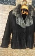 Дубленка toto укороченная черная куртка, женская вязаная шапочка с отворотом