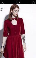 Платье бархатное с пикантным вырезом, повседневная форма одежды фсин