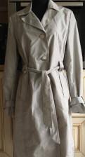 Платье из атласа мятного цвета, плащ ostin