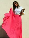 Юбка в пол гофре есть разные расцветки, женская одежда делового стиля сезон