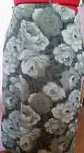 Юбка карандаш легкая, рубашка в клетку мужская с коротким рукавом