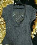 Платье со шлейфом по бокам, жилетка, Тосно