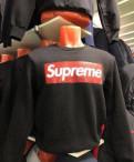 Толстовка свитшот Supreme новая. Черная, футболка ralph lauren красная