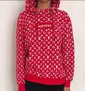 Худи, свитшот Louis Vuitton Supreme, купить вещи в секонд хенд интернет магазин, Пикалево