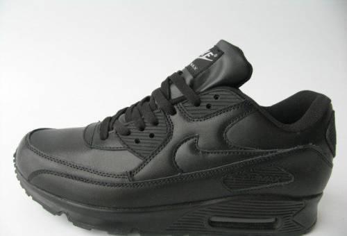 0edd9973 Кроссовки Nike Air Max 90 Кожа Черные Пол. Ч.Б.44, купить кроссовки ...