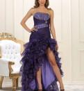 Платье для полных на кокетке, длинное Нарядное платье Германия 42-44