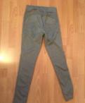 Брюки и джинсы для полных, лосины серые