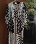 Платья из батиста для полных женщин, костюм платье+накидка в горошек 52-54 размер