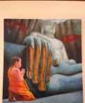 """Картина """"Будда и монах"""", 100х90см, холст, масло"""