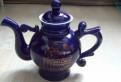 Фарфоровый чайник кобальт