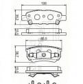 Колодки задние Mitsubishi Lancer, цены на запчасти ваз шевроле нива