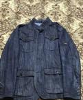 Пиджак джинсовый мужской, р.50-52, футболка зуса из гравити фолз
