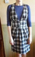 Новый клетчатый сарафан, купить халат женский в интернет магазине hm home, Санкт-Петербург