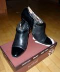 Ботильоны кожаные черные, спортивная обувь для похудения