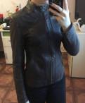 Куртка кожаная натуральная. торг, женский пуховик золотого цвета