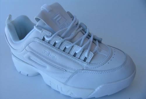 2a4e43a183007 Мокасины мужские под костюм, кроссовки Fila Disruptor 2 Кожа Белые ...