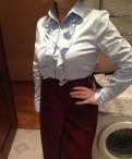 Верхняя одежда raslov, блуза-рубашка новая, голубого цвета, размер 50