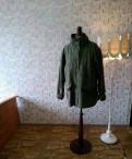 Куртка осенняя, платья футляр плотное синего цвета
