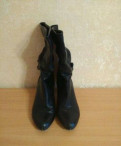 Ботильоны на толстом каблуке и шнуровке, сапоги