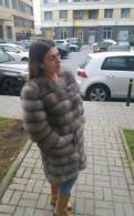 Турецкая одежда для женщин оптом, шуба трансформер из песца цвет Каменная куница 90с