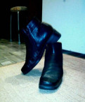 Черные ботильоны на толстом каблуке, ботинки весна - осень