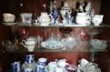 Набор посуды, сервизы, Гжель