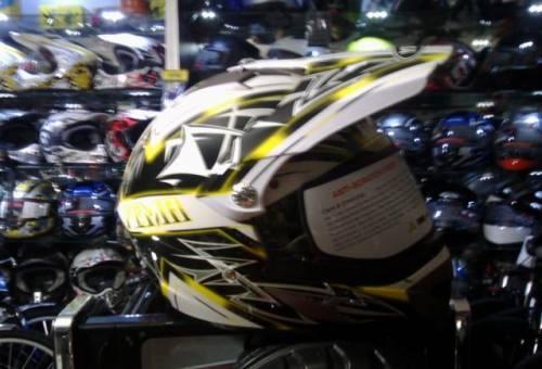 Масло zic для мотоцикла, шлем кросс с визором Yema 911белый