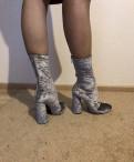 Женские зимние сапоги 42 размера купить, ботильоны бархатные жемчужные