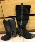 Сапоги зимние замшевые кожаные carnaby, женская обувь viking