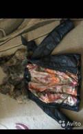 Купить мужские брюки в клетку зауженные, куртка зимняя, с меховым капюшоном