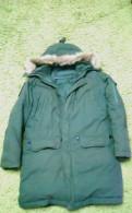 Куртка Аляска военная новая, мужские сорочки каштан