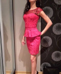 Новое красное платье, платье на бретельках на футболку