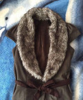 Жилет с мехом Promod, платье футляр с накладными карманами, Кириши