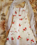 Платье с воланом на плечах на 2 года, платье