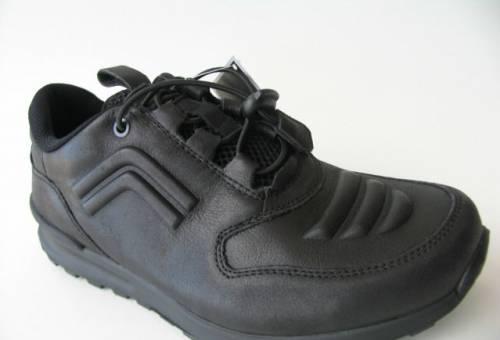 Ботинки рабочие мужские с металлическим, кроссовки Ecco Штрих Кожа Черная 43