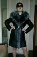 Пальто зимнее, натуральная кожа, песцовый мех, модная одежда оптом от производителя россия дешево цены опт