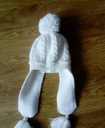 Детская вязаная шапочка. Зимняя