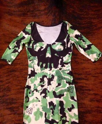 """Платье милитари, хаки """"Swag"""", короткие без рукавов вечерние платья"""