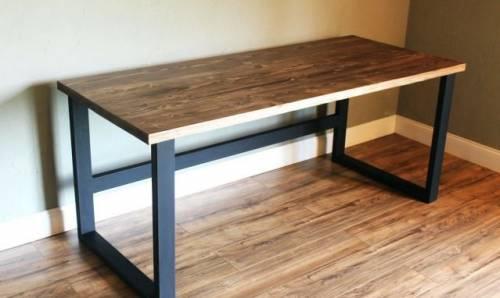 Обеденный стол, рабочий стол в стиле лофт, массив