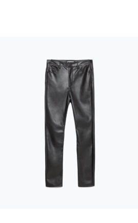 Zara новые кожаные брюки, платья павла рябинина купить