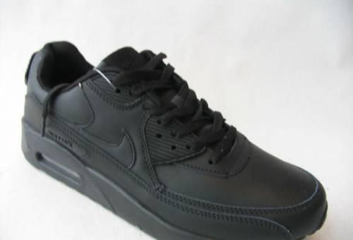Кроссовки Nike Air Max 90 Кожа Чер. Чер. Гл.40, купить мужские мокасины армани