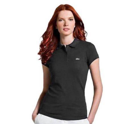 Стильное женское поло Lacoste плкж2. 1, купить качественную одежду в интернет магазине с бесплатной доставкой