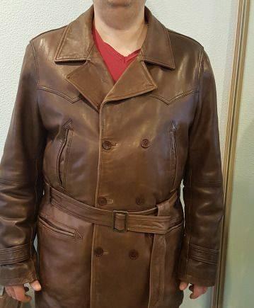 Продам кожаную куртку 58 размера, зимняя мужская куртка cobbs ii alpha industries