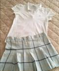 Шуба мутон с капюшоном из норки цена, комплект: юбка Burberry, Lacoste поло S