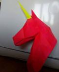 Оригами единорога из бумаги 3D