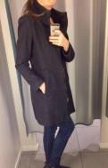 Одежда в стиле grunge, пальто серое Zara